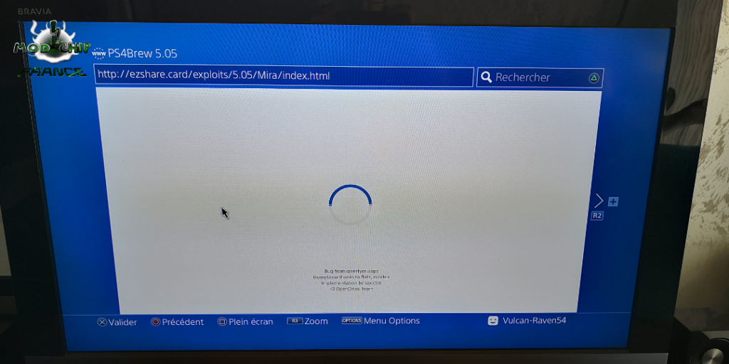 PS4 hack Internet 5.05 Mira