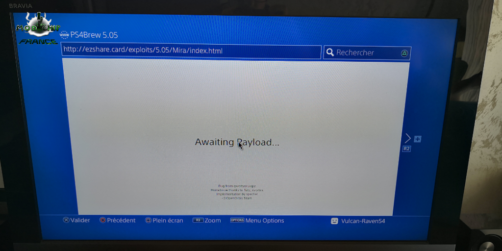 Payloads OK Hack PS4