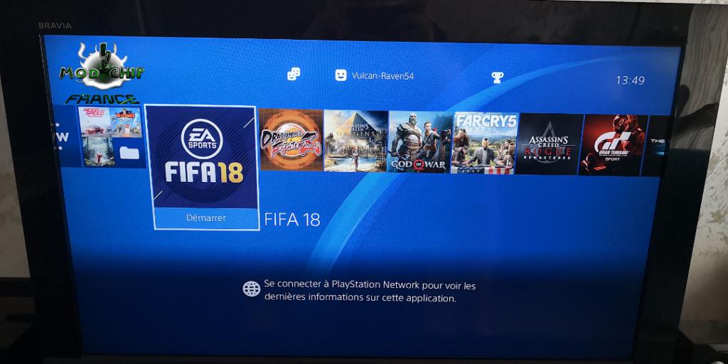 Menu PS4 hack OK