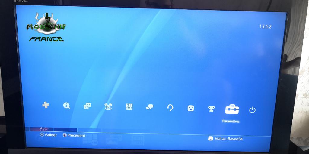 Paramètres PS4 hack